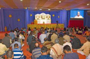 Swami Madhavananda conducts Hong-Sau technique class