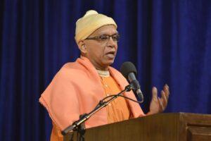 Swamiji spoke on Guru given Sadhana and Shraddha.