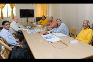 Mr Ian Pollock, Director of Presstek, UK visits Ranchi ashram for discussions