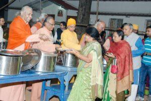 Monks serve prasad, Ranchi.