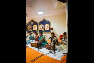 Volunteers lead a Cosmic Chants session.