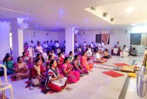 Chanting and meditation, Anantapur.