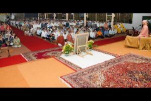 Swami Lalitananda addresses devotees, Noida