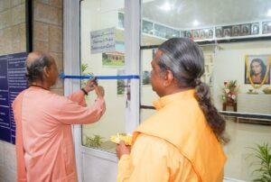 Swami Suddhananda inaugurates a YSS book Shop in central Kolkata.