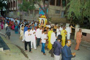 Prabhat Feri during Mandir Dedication, Anantapur.