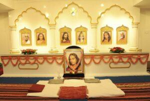 Altar of the new mandir, Anantapur.
