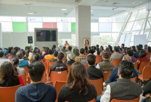 Swami Smaranananda delivers a talk on Guruji's teachings at Infosys campus, Chandigarh.