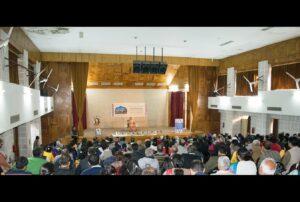 Swami Smaranananda delivers a talk on benefits of Meditation at Jammu.