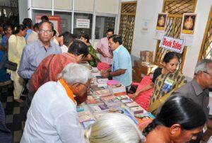 A busy book stall at Vijayawada.