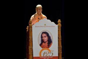 Swami Suddhananda gives an inspiring talk, Hyderabad.