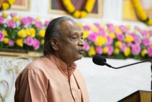 and Swami Madhavananda speak on various topics to inculcate Gurudeva's teachings in daily life.