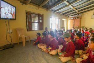 Watching a video on Gurudeva Sri Sri Paramahansa Yogananda.