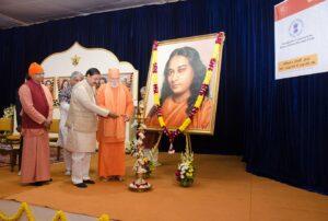 Sri Mahesh Sharma, Hon'ble Minister of Culture, Government of India and Sri Bhupendra Yadav, member Rajya Sabha, Chief Guests, light the ceremonial lamp, Noida.