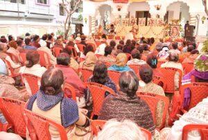 Swami Amrananda leads celebrations at Serampore.