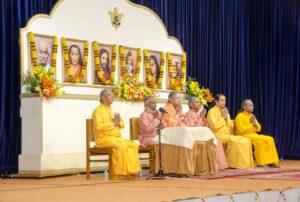 Swami Lalitananda leads the opening prayer.