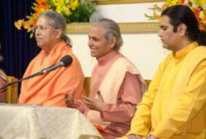 Swami Smaranananda delivers the opening talk.