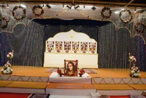 Kriya diksha day decorations.