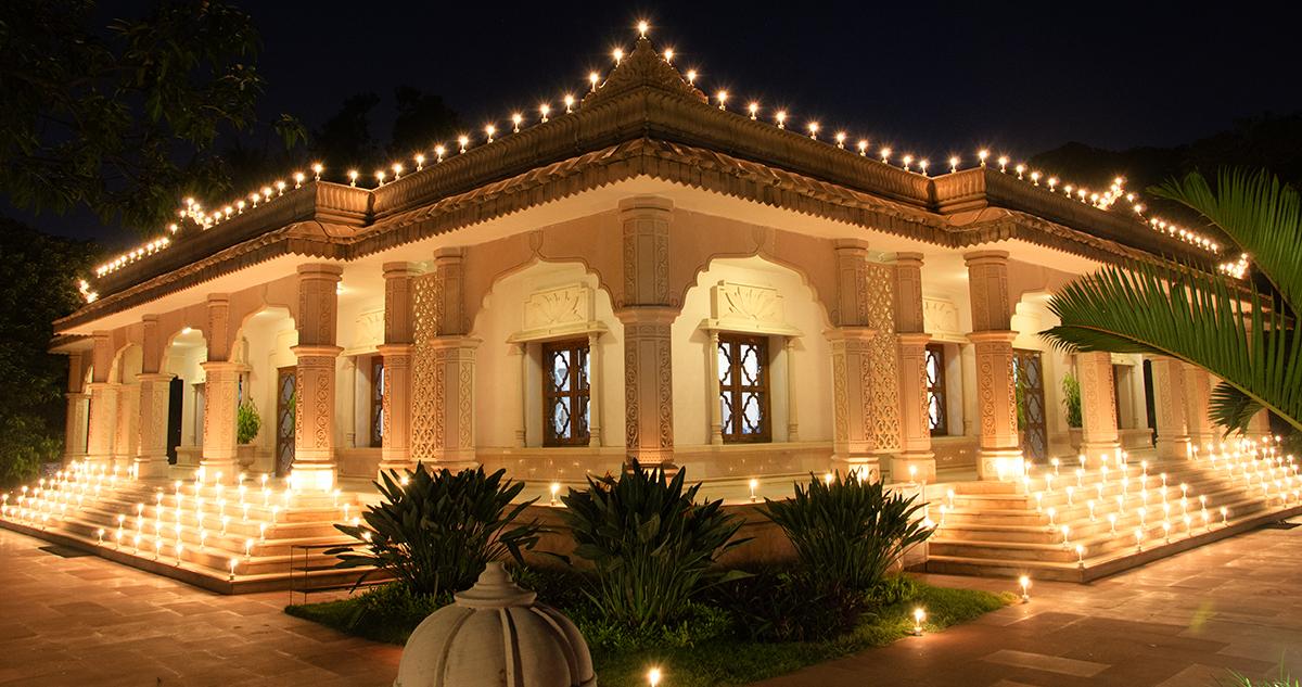 YSS Dhyana mandir during Diwali