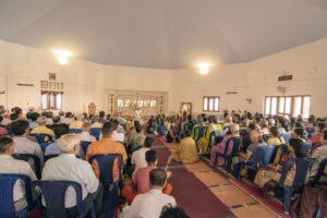 Group meditation, Bengaluru.