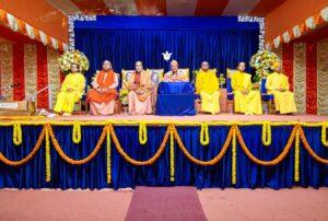 Swami Krishnananda gives an inaugural talk.