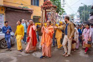 Celebration begins with Prabhat Feri, Dakshineswar.