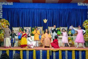 A skit by children, Dakshineswar.