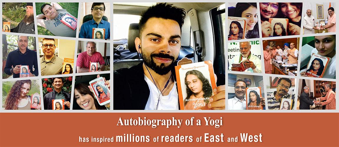 Virat kohli, Narendra Modi, Ravi shastri and others with Autobiography of Yogi