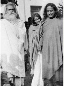 Ananda Moyi Ma, Bholanath and Yogananda in Calcutta.