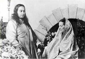 Paramahansa Yogananda and Faye Wright, now Sri Daya Mata at SRF Encinitas Hermitage.