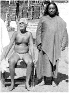 Paramahansa Yogananda and Ramana Maharishi in Tiruvannamalai, Tamil Nadu.