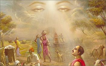 Eyes of god in prayer and devotion 3