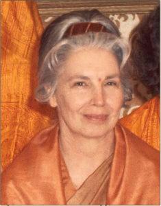 Sri Ananda Mata Sannyasini disciple of Paramahansa Yogananda