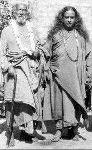 Swami Sri Yukteswar and Yogananda at Kolkata in 1935.