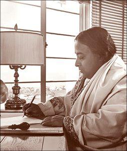Paramahansa Yogananda writing
