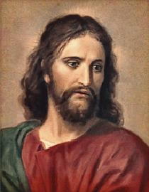 Jesus christ as drawn by Heinrich Hofmann.
