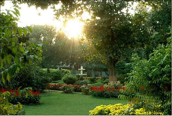 Sunrise from Ranchi ashram garden.