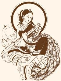 Devi Saraswati with her Veena.
