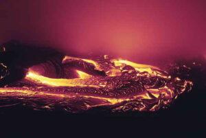 Melting of Lava represents merging of soul in God.
