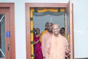 Swami Suddhananda inaugurates the Kendra.