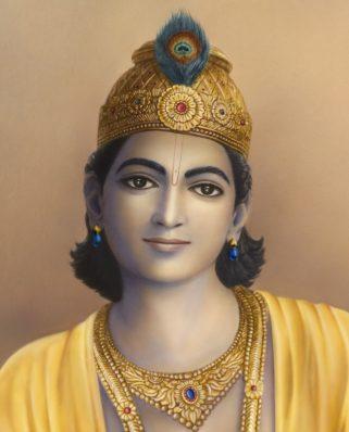Bhagavan Krishna with mukut