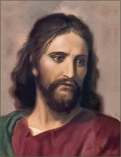 Jesus Christ photo as on  Altar of YSS/SRF.