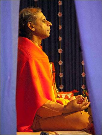 YSS Swami Meditating
